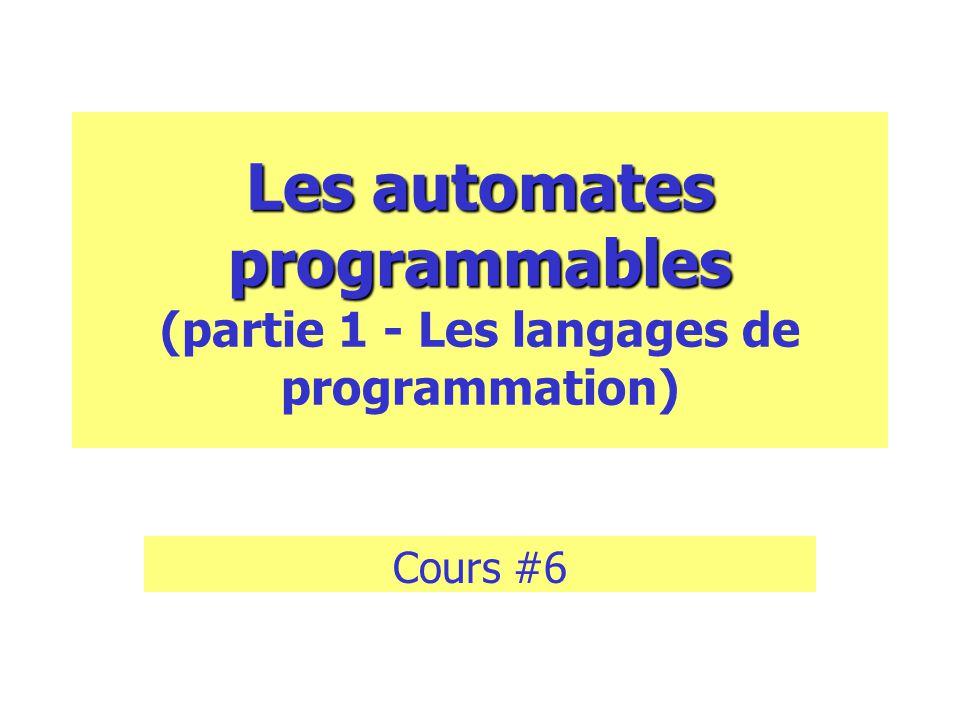 Les automates programmables (partie 1 - Les langages de programmation)