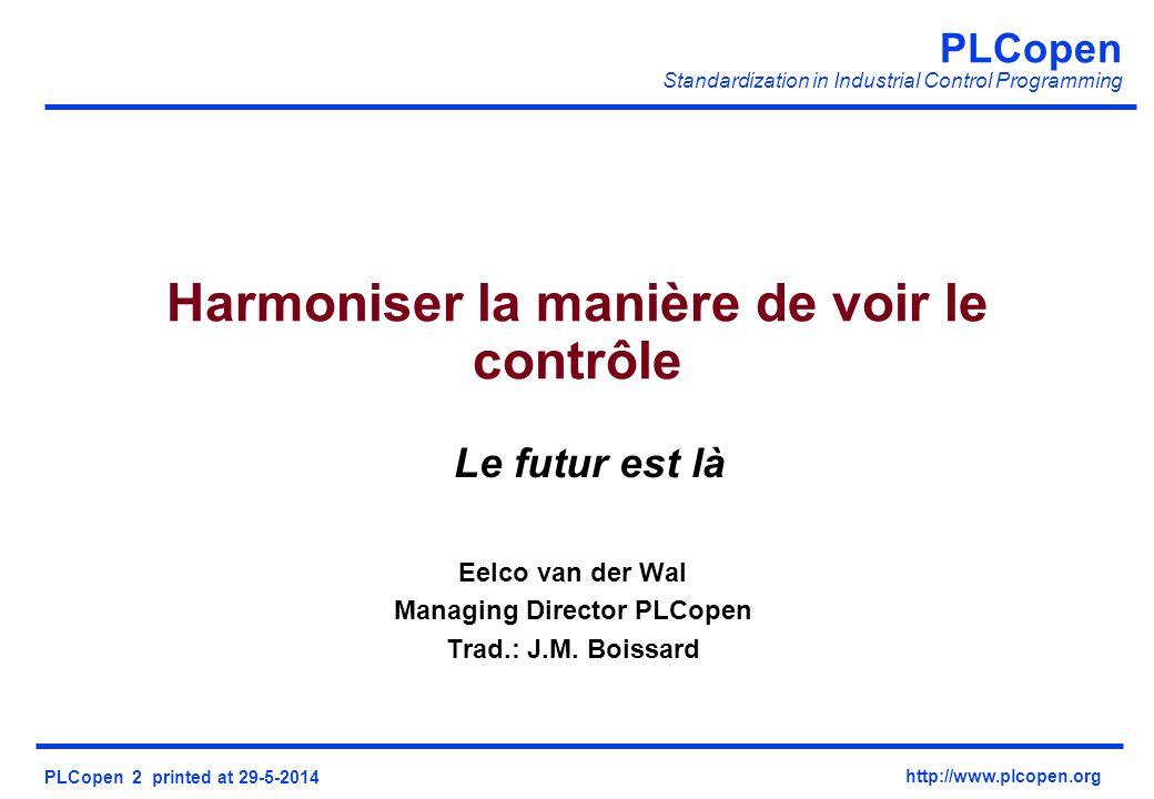 Harmoniser la manière de voir le contrôle