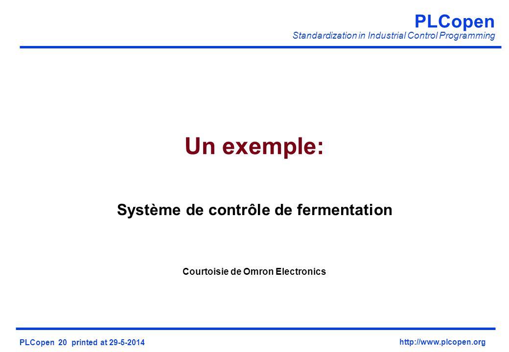 Système de contrôle de fermentation Courtoisie de Omron Electronics