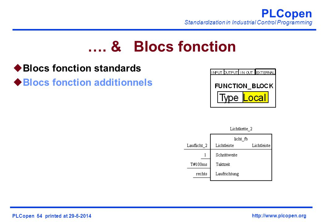 …. & Blocs fonction Blocs fonction standards