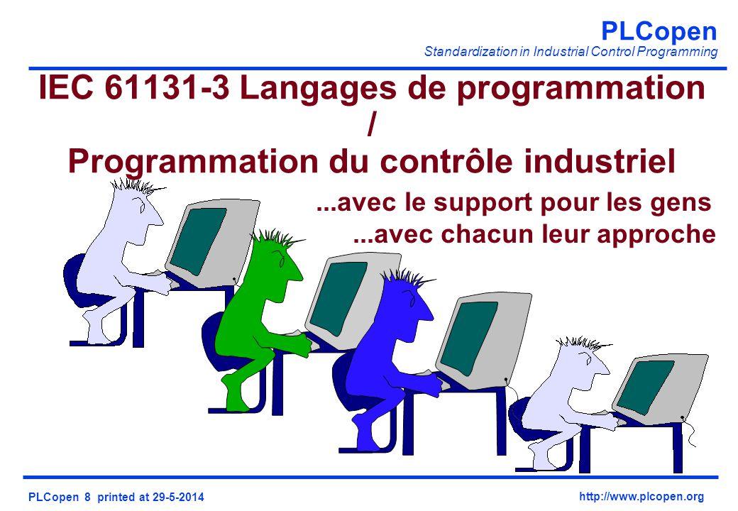 IEC 61131-3 Langages de programmation / Programmation du contrôle industriel