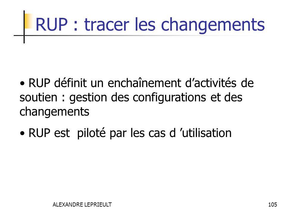 RUP : tracer les changements