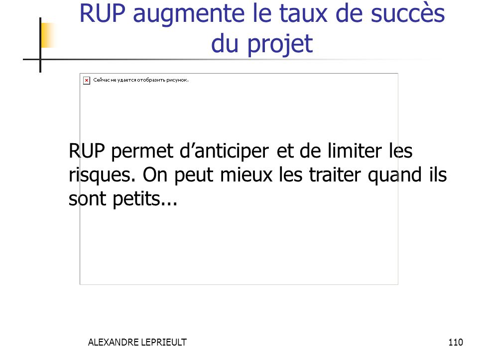 RUP augmente le taux de succès du projet