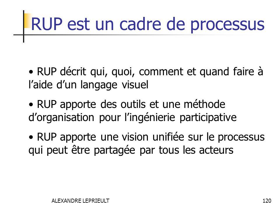 RUP est un cadre de processus