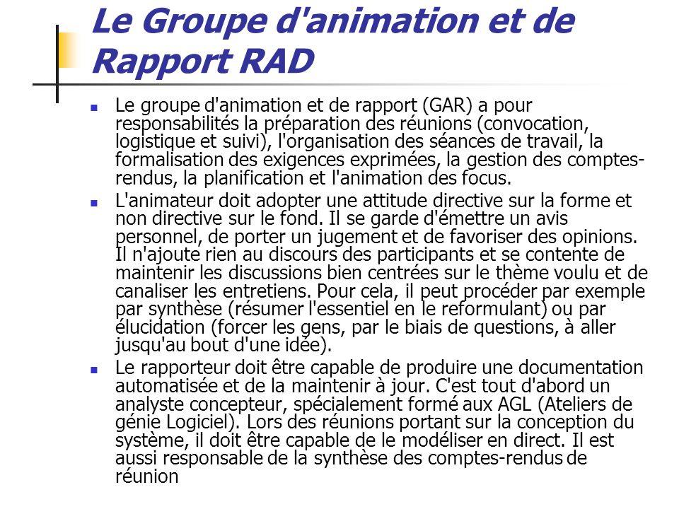 Le Groupe d animation et de Rapport RAD