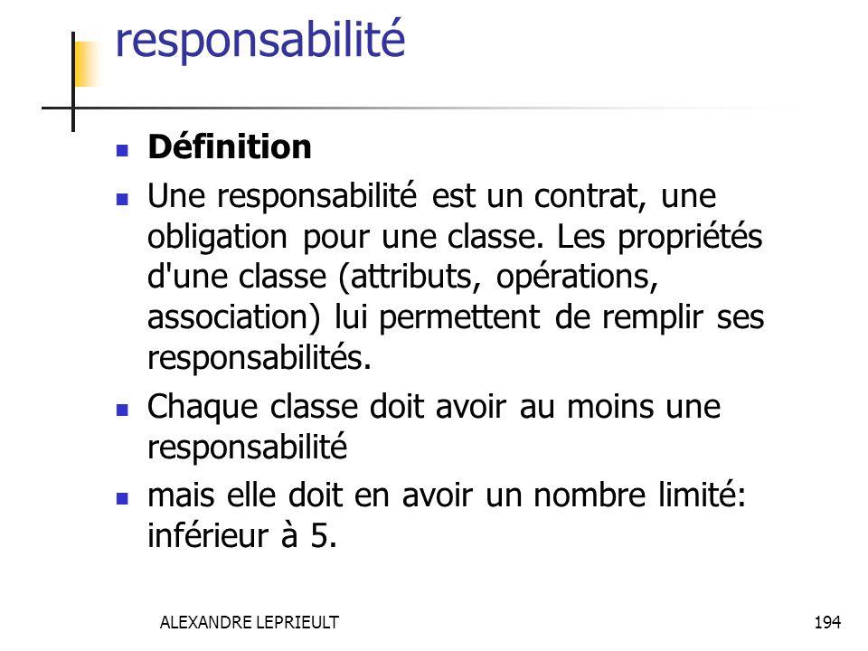 responsabilité Définition