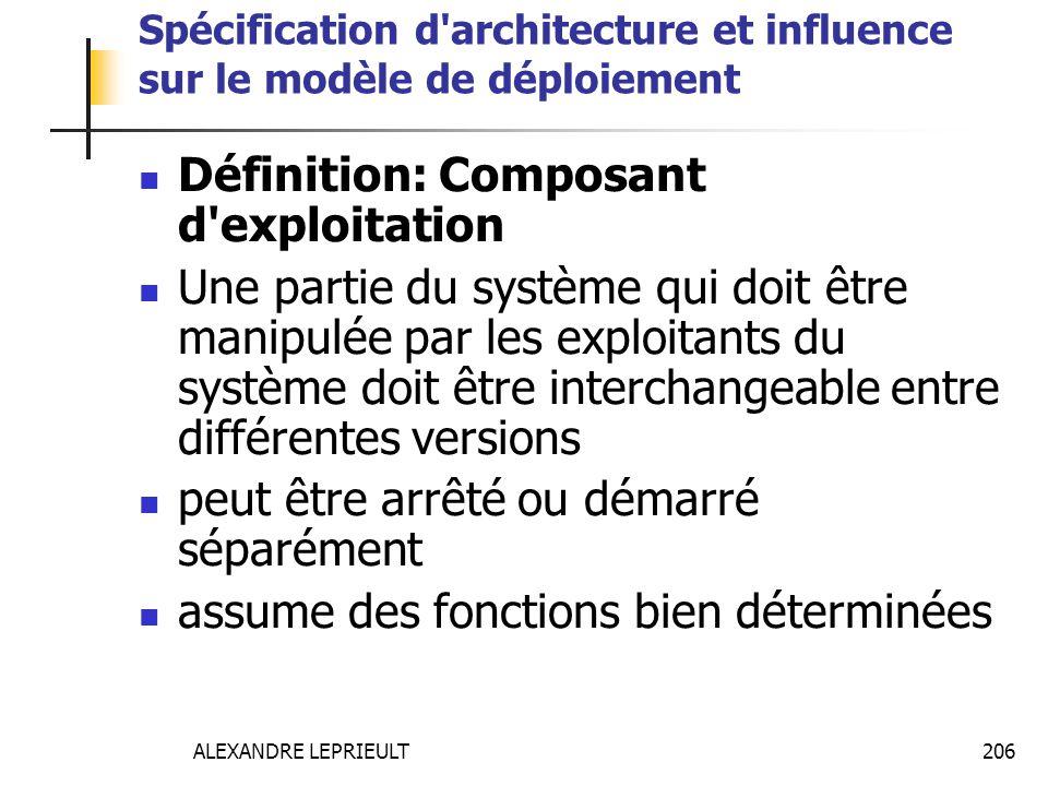 Spécification d architecture et influence sur le modèle de déploiement