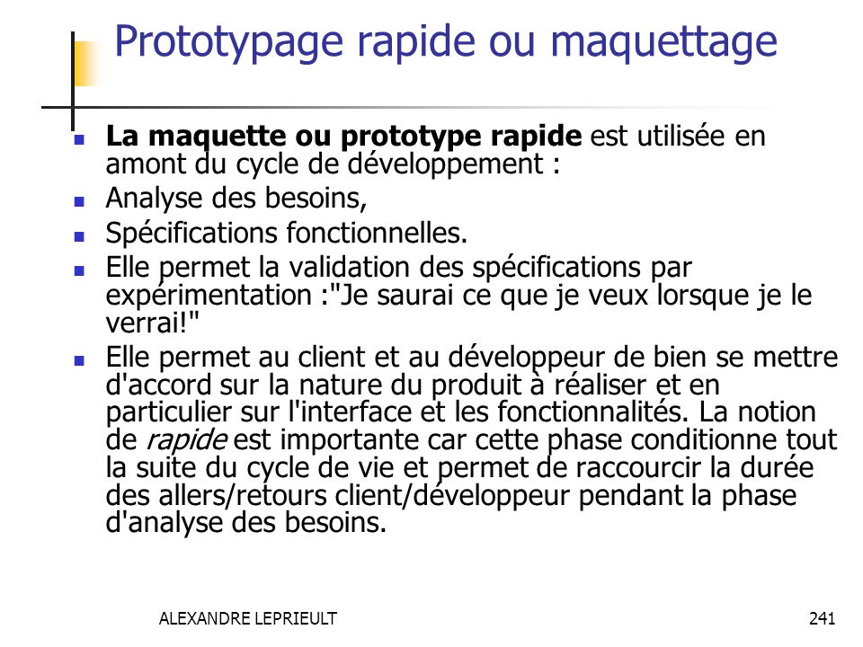 Prototypage rapide ou maquettage