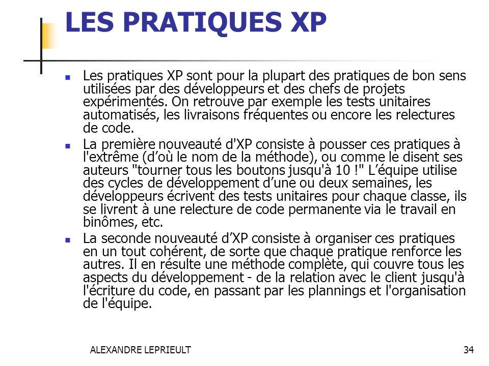 LES PRATIQUES XP