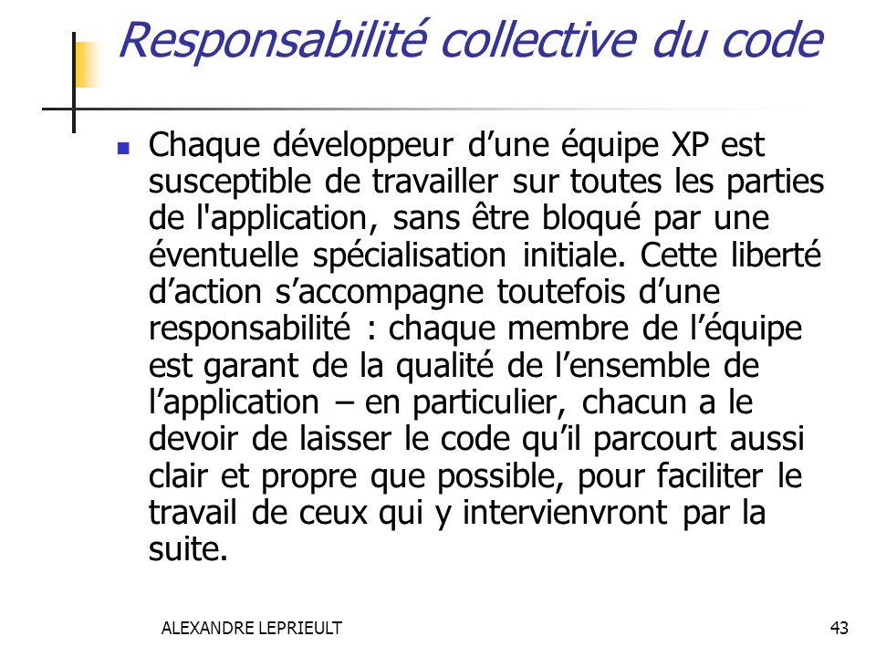 Responsabilité collective du code
