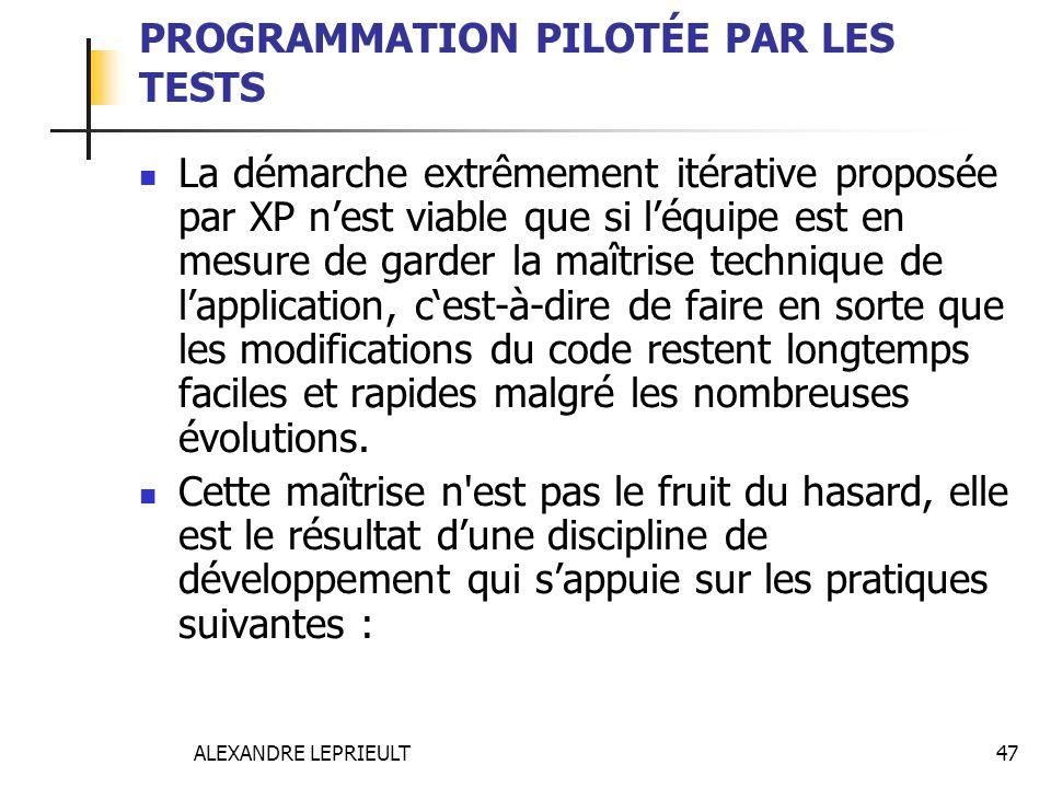 PROGRAMMATION PILOTÉE PAR LES TESTS