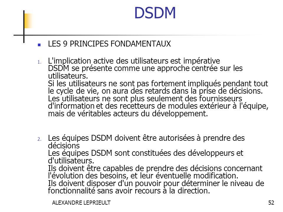 DSDM LES 9 PRINCIPES FONDAMENTAUX