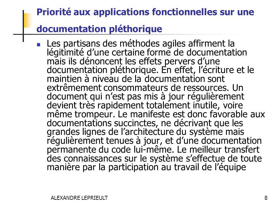Priorité aux applications fonctionnelles sur une documentation pléthorique