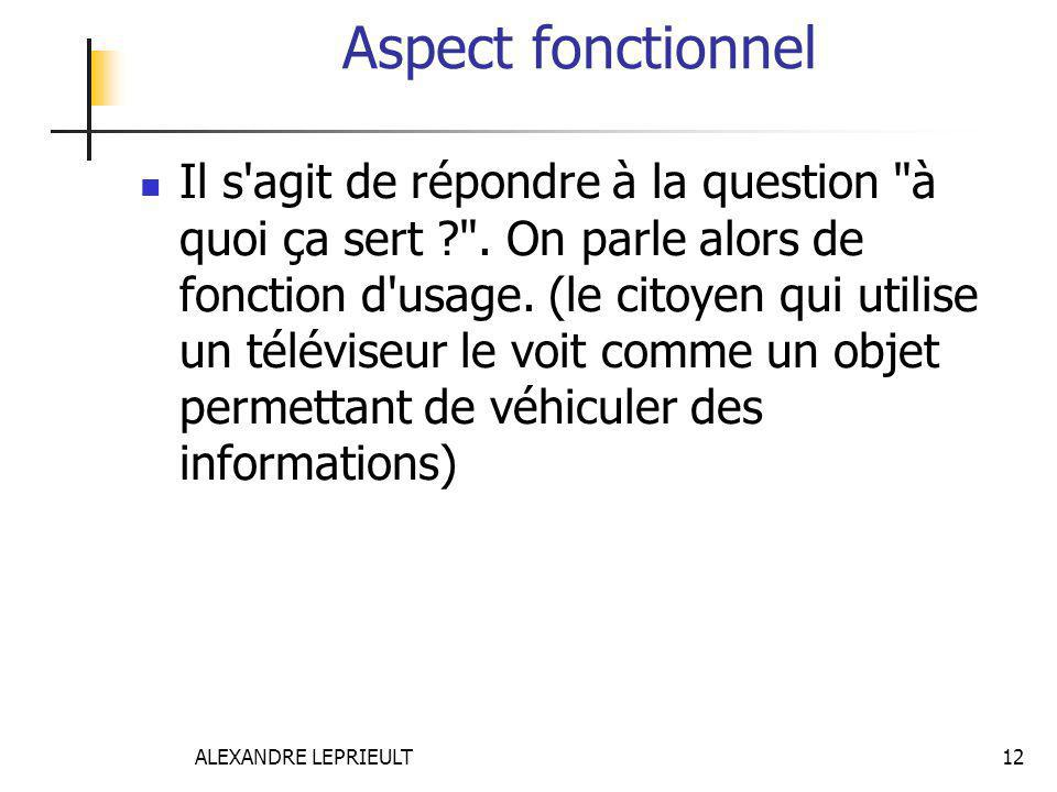 Aspect fonctionnel