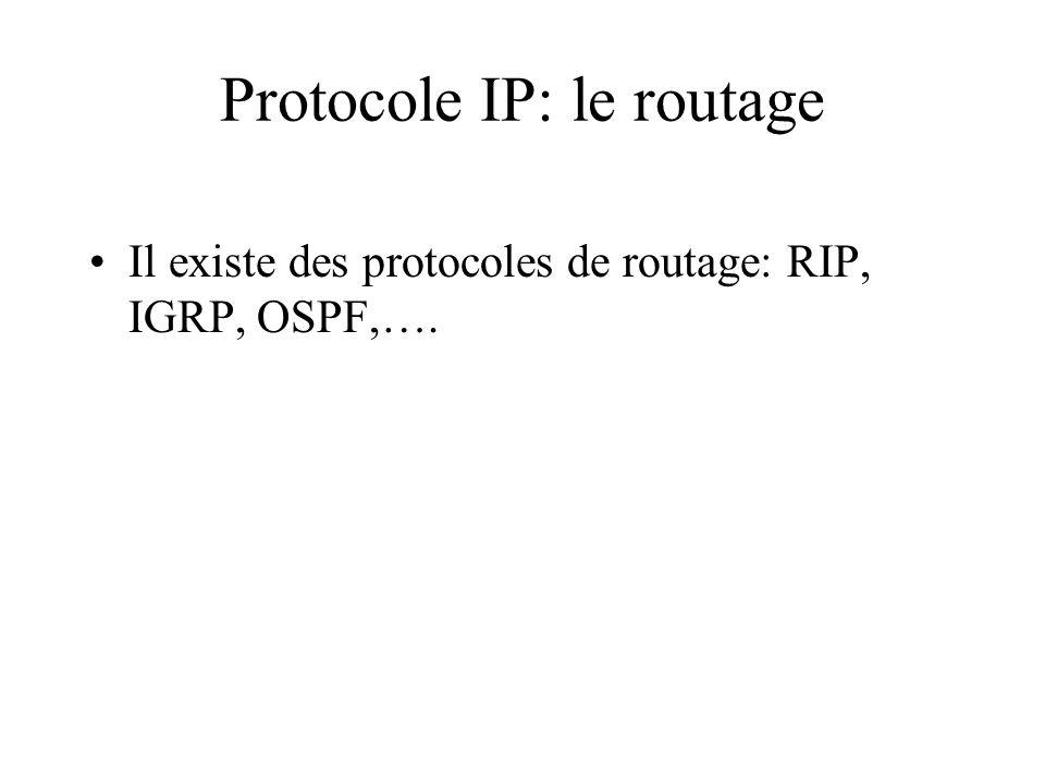 Protocole IP: le routage