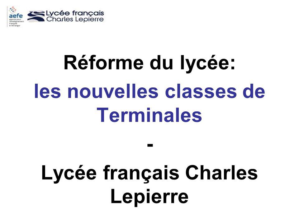 les nouvelles classes de Terminales Lycée français Charles Lepierre