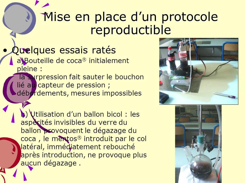 Mise en place d'un protocole reproductible