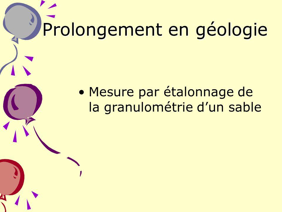 Prolongement en géologie