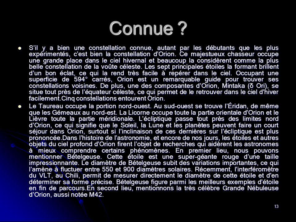 Connue