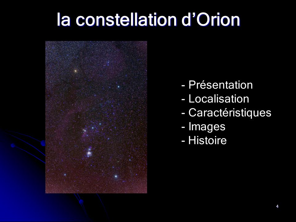la constellation d'Orion