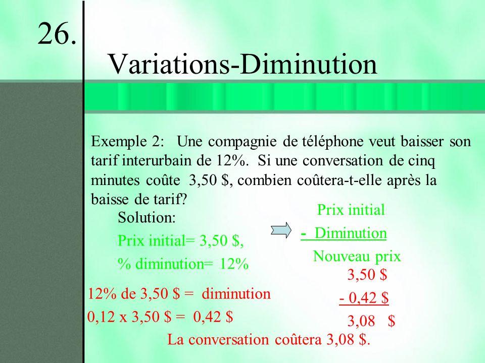 Variations-Diminution