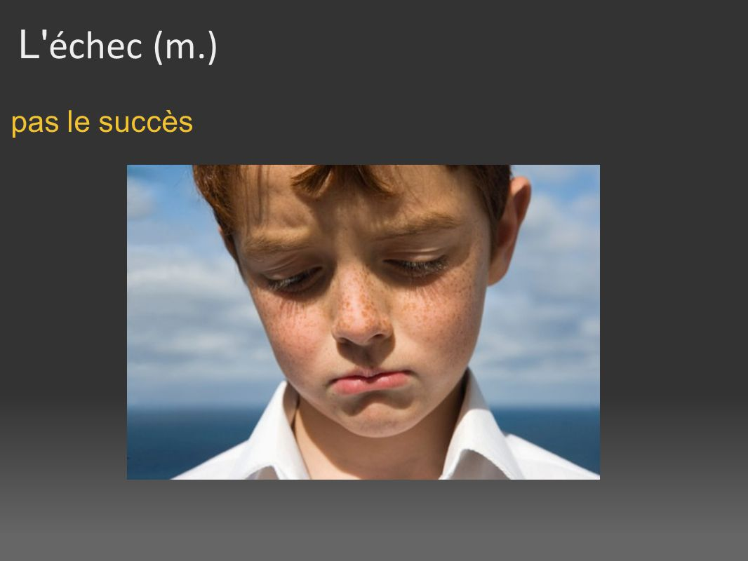 L échec (m.) pas le succès