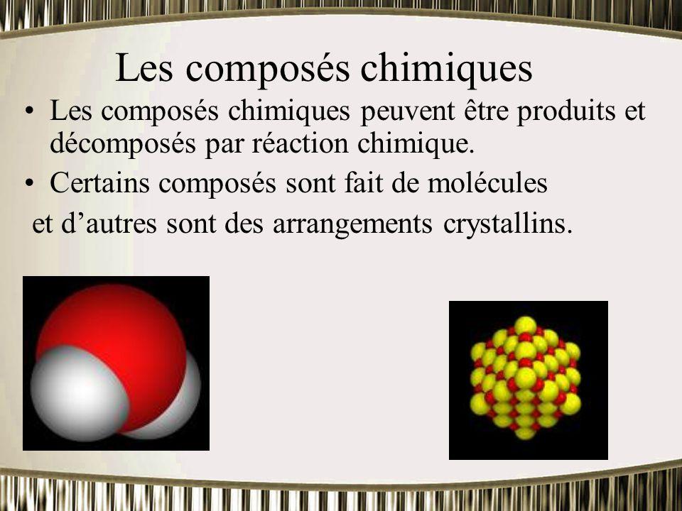 Les composés chimiques
