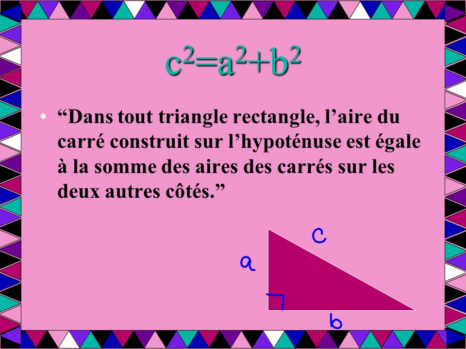 c2=a2+b2