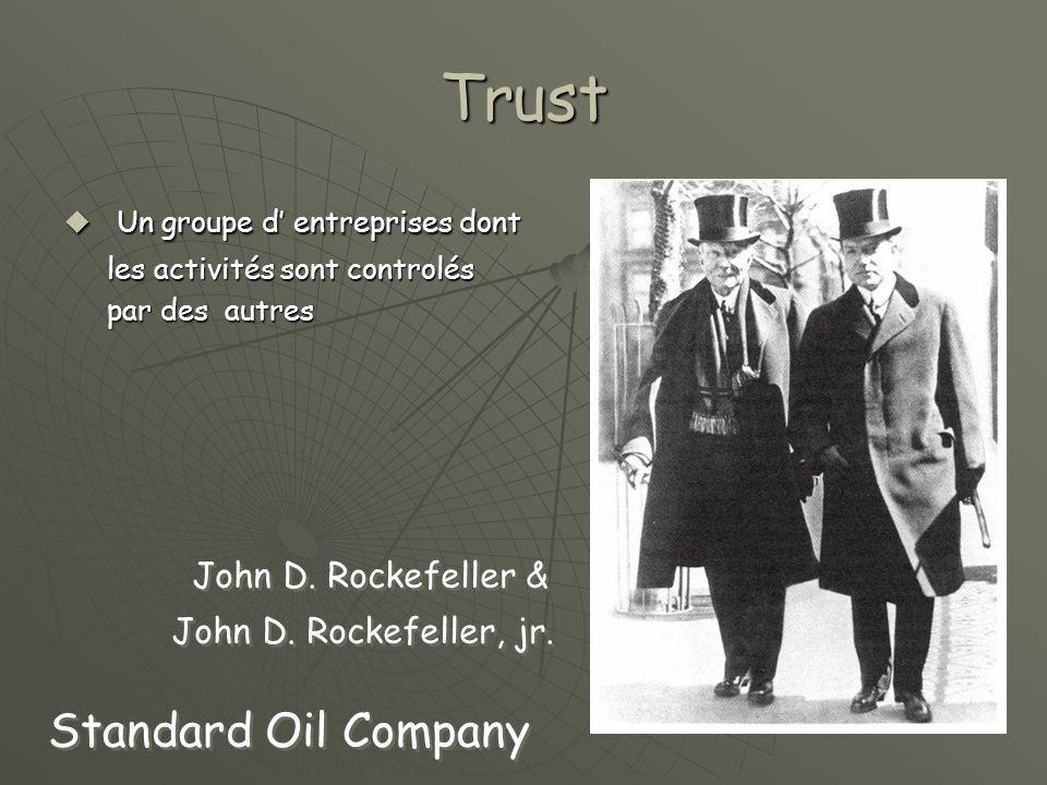 Trust Un groupe d' entreprises dont Standard Oil Company