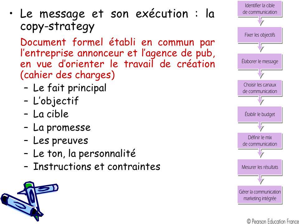 Le message et son exécution : la copy-strategy