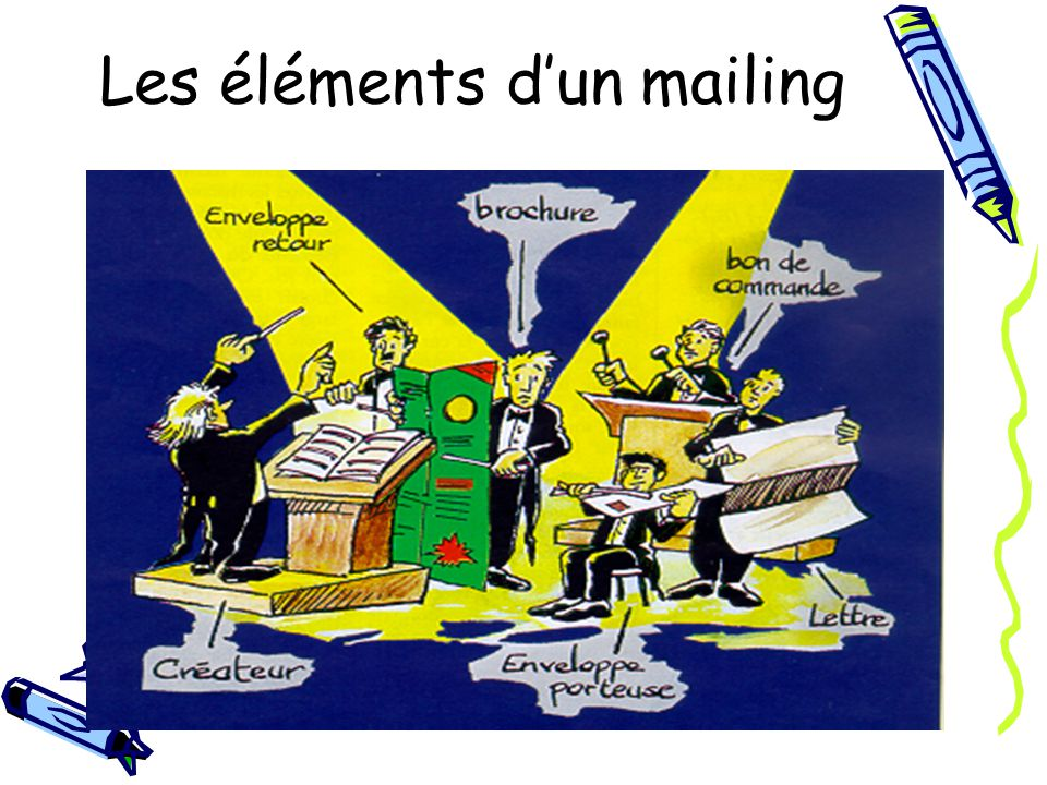 Les éléments d'un mailing