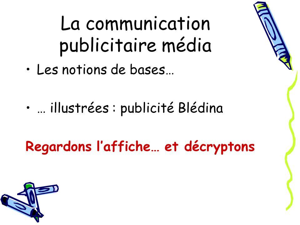 La communication publicitaire média