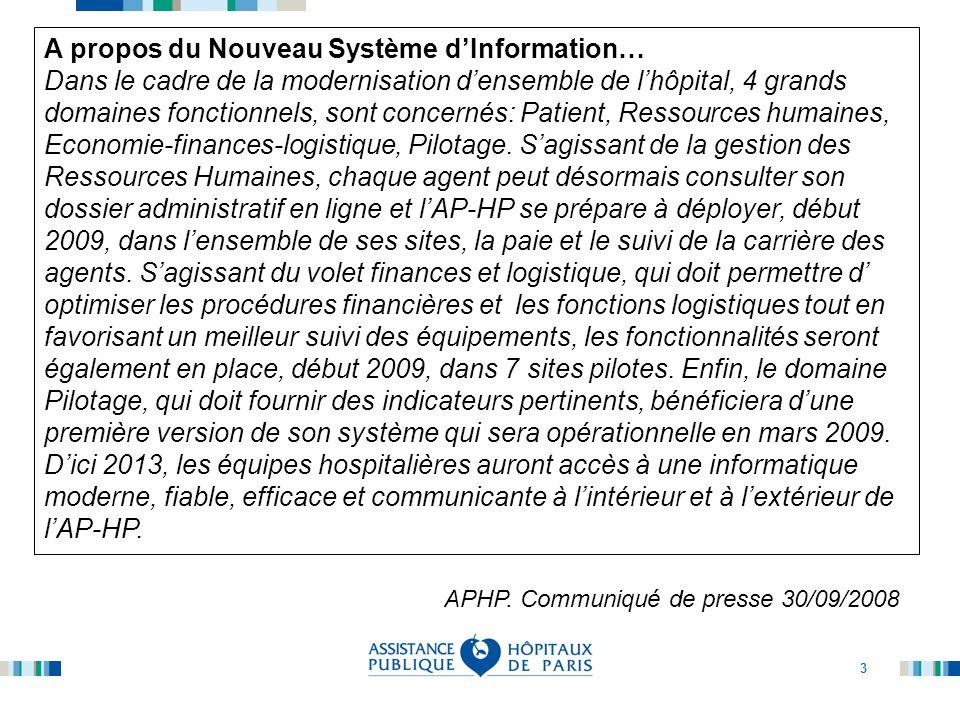 A propos du Nouveau Système d'Information…