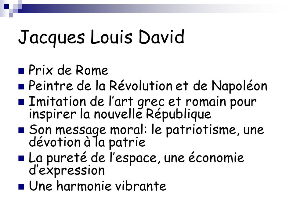 Jacques Louis David Prix de Rome