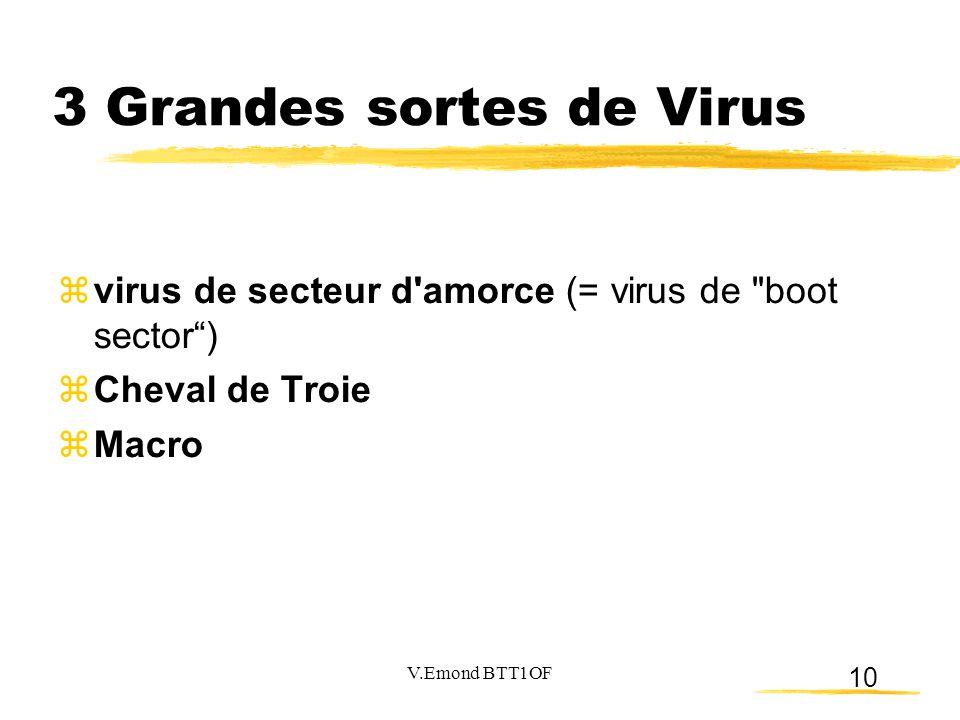 3 Grandes sortes de Virus