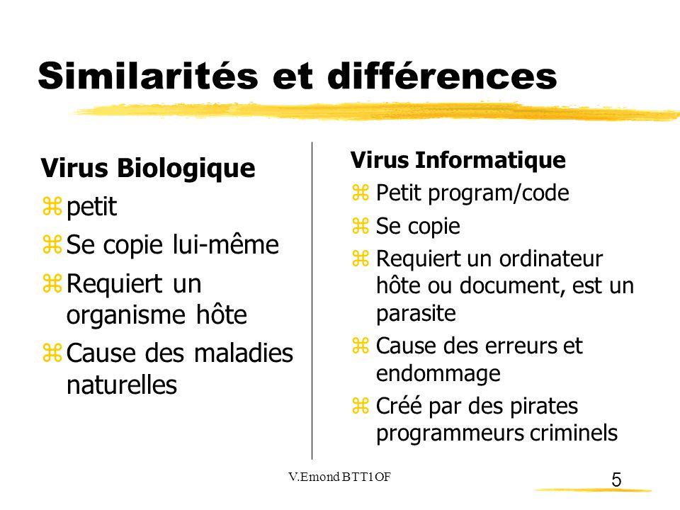 Similarités et différences