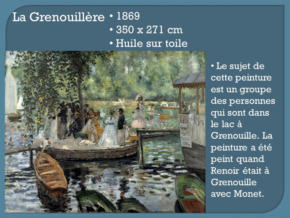 La Grenouillère 1869 350 x 271 cm Huile sur toile