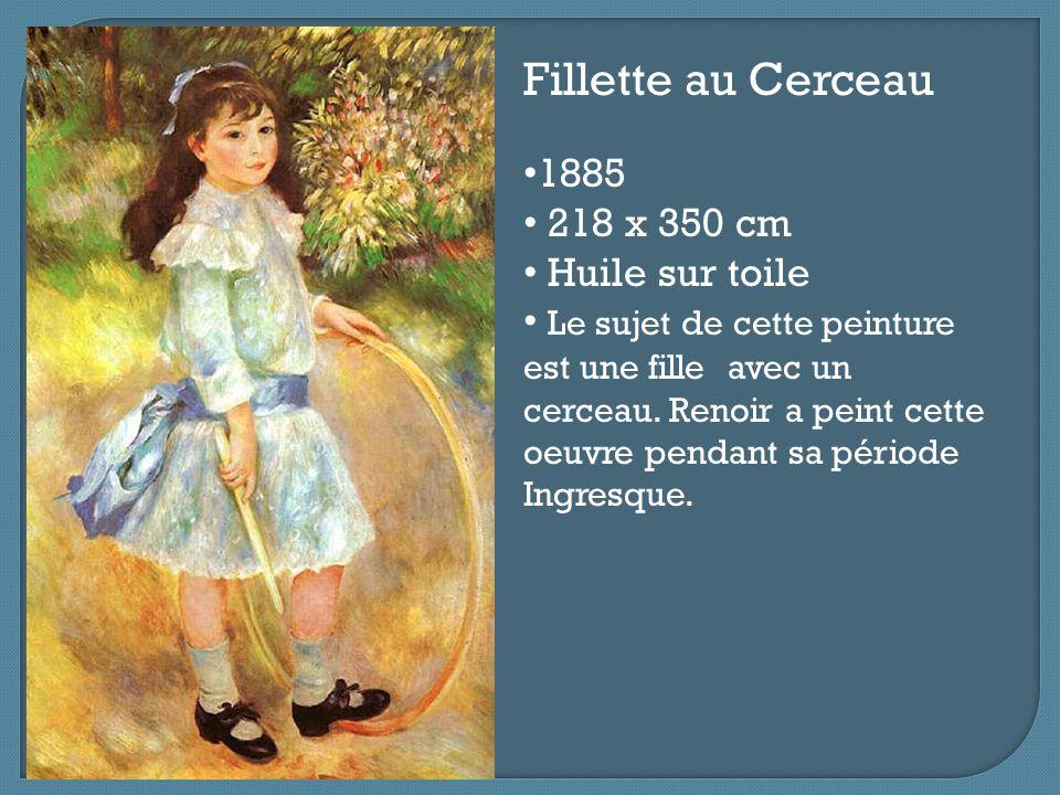 Fillette au Cerceau 1885 218 x 350 cm Huile sur toile