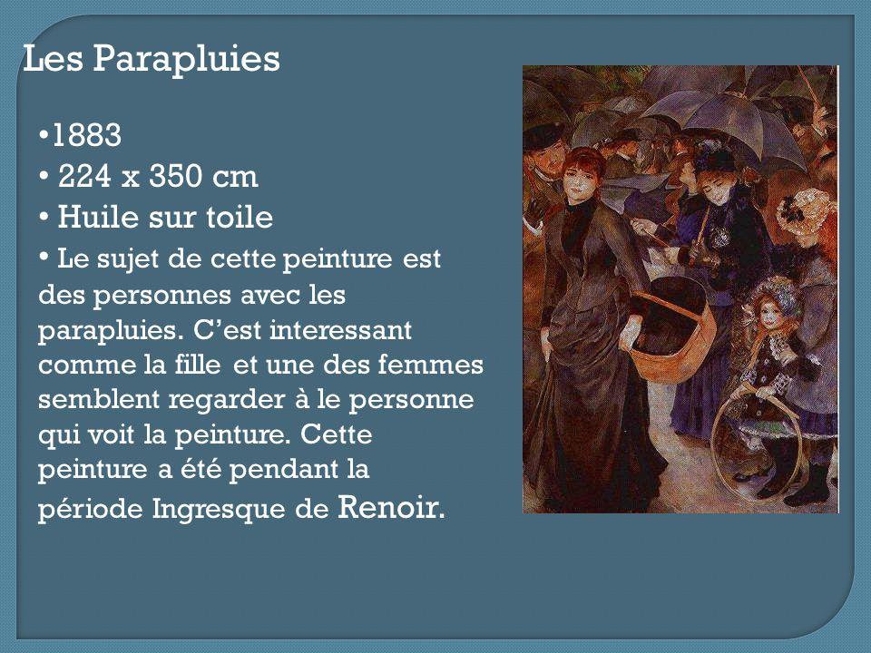 Les Parapluies 1883 224 x 350 cm Huile sur toile