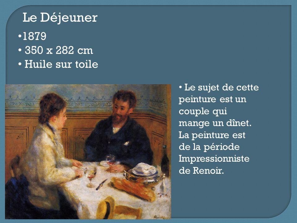 Le Déjeuner 1879 350 x 282 cm Huile sur toile