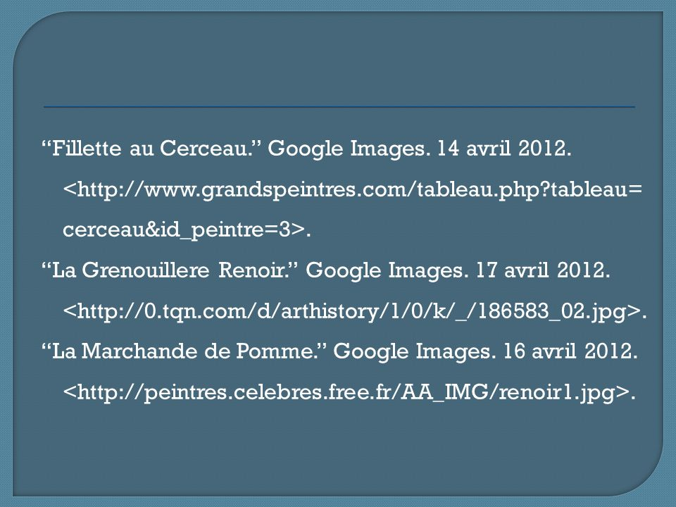 Fillette au Cerceau. Google Images. 14 avril <