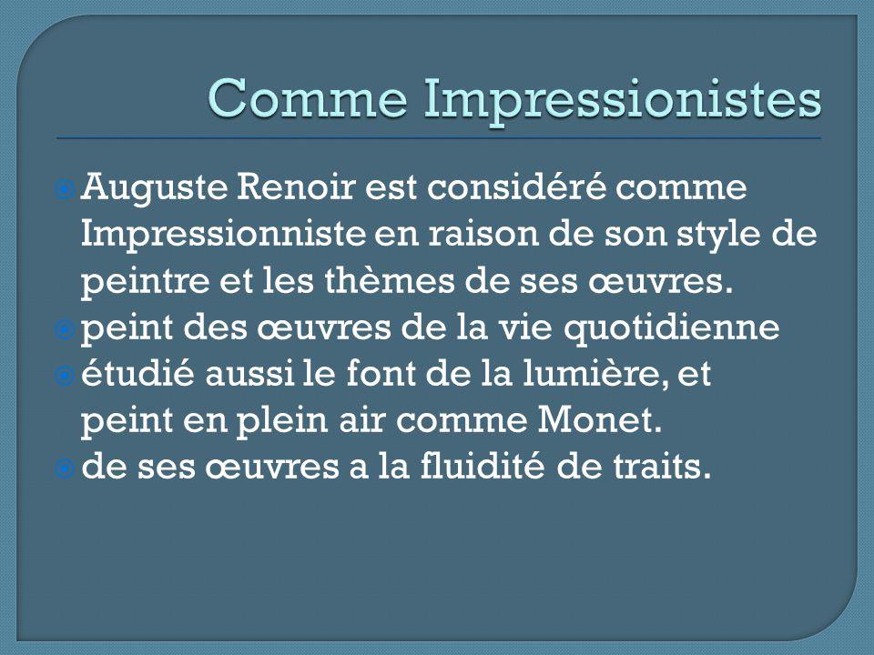 Comme Impressionistes