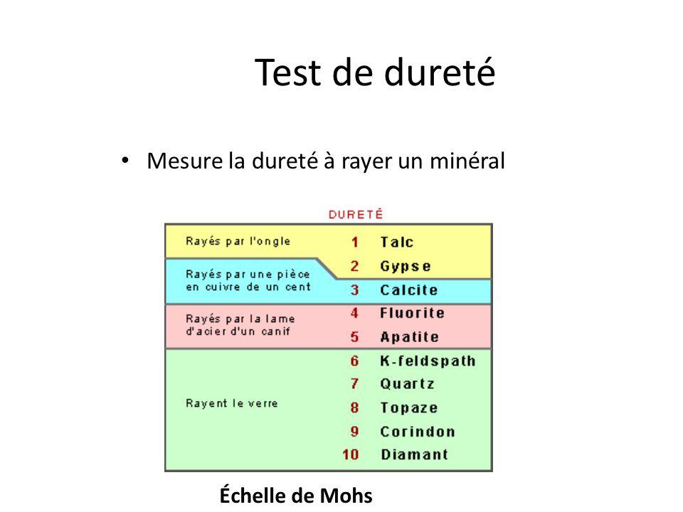 La classification des min raux ppt video online t l charger for Test de durete de l eau