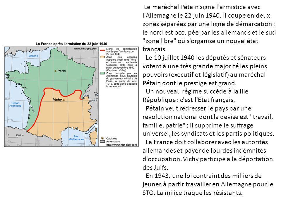 Le maréchal Pétain signe l armistice avec l Allemagne le 22 juin 1940