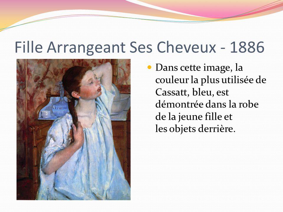 Fille Arrangeant Ses Cheveux - 1886