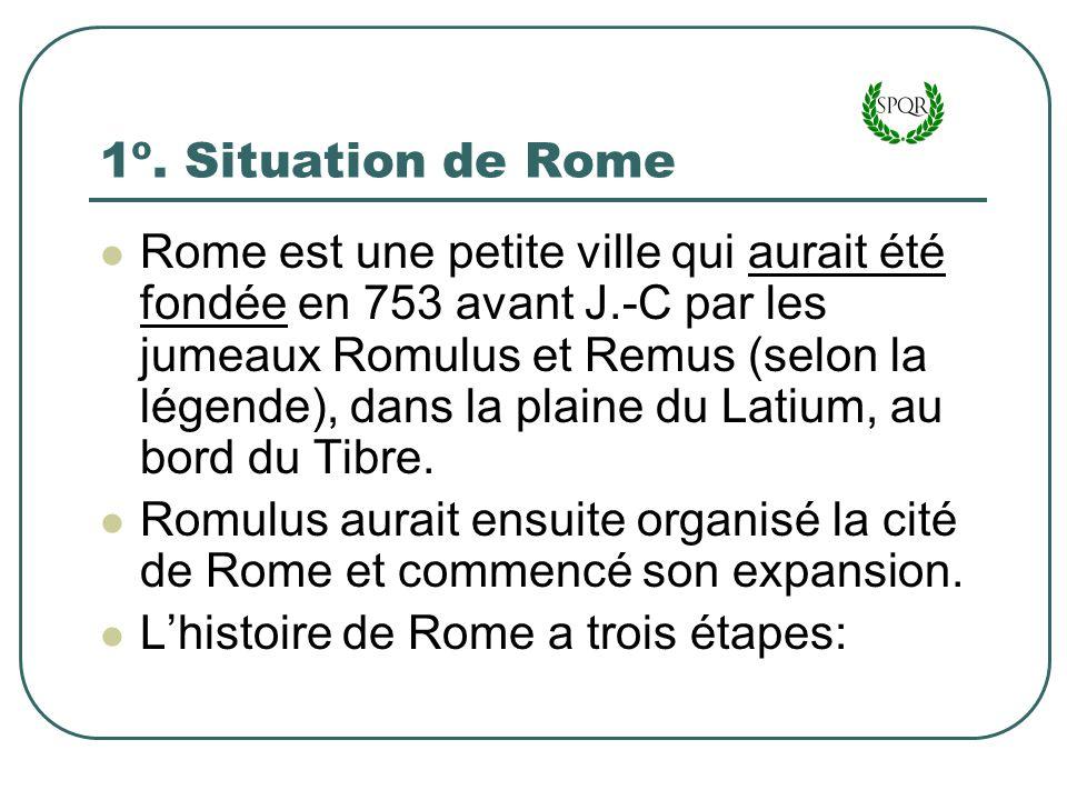 1º. Situation de Rome