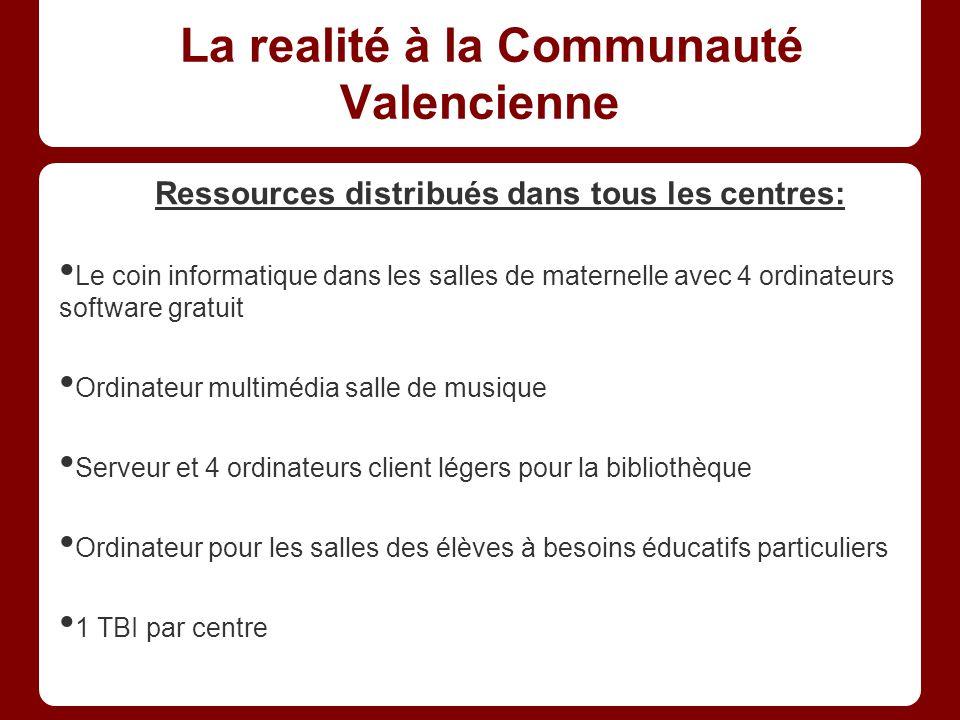La realité à la Communauté Valencienne