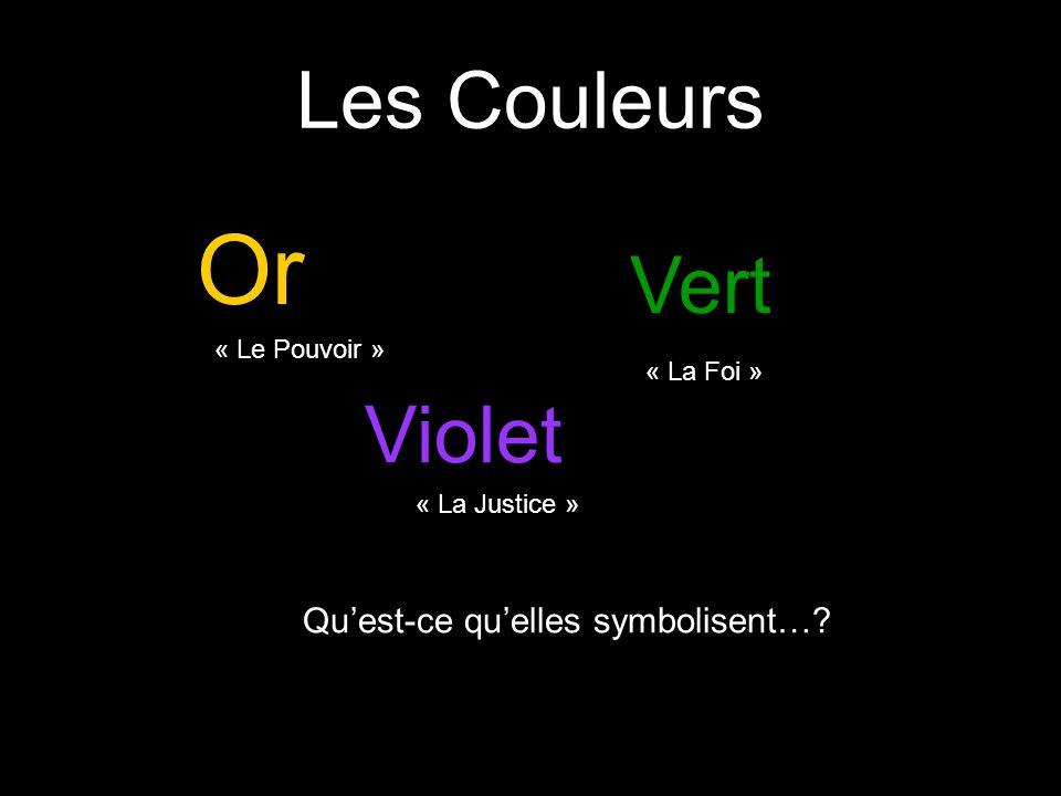 Or Les Couleurs Vert Violet Qu'est-ce qu'elles symbolisent…