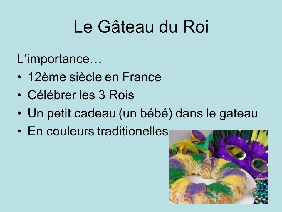 Le Gâteau du Roi L'importance… 12ème siècle en France