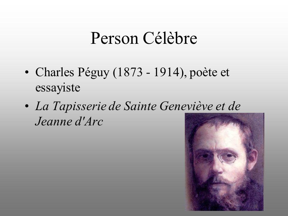 Person Célèbre Charles Péguy (1873 - 1914), poète et essayiste